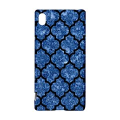 Tile1 Black Marble & Blue Marble Sony Xperia Z3+ Hardshell Case