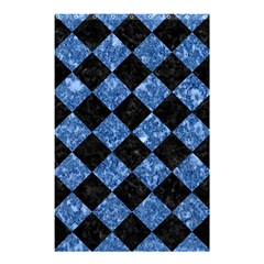 Square2 Black Marble & Blue Marble Shower Curtain 48  X 72  (small)