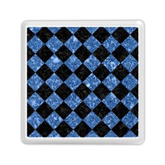 Square2 Black Marble & Blue Marble Memory Card Reader (square)