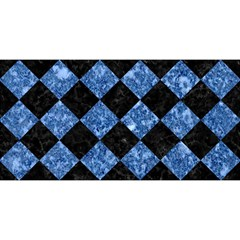 Square2 Black Marble & Blue Marble You Are Invited 3d Greeting Card (8x4)