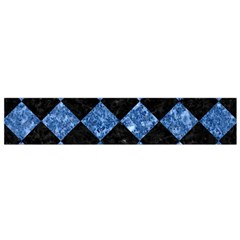 Square2 Black Marble & Blue Marble Flano Scarf (small)