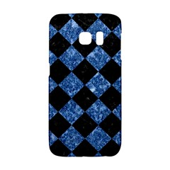 Square2 Black Marble & Blue Marble Samsung Galaxy S6 Edge Hardshell Case