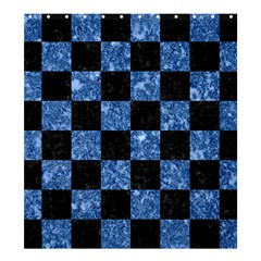 Square1 Black Marble & Blue Marble Shower Curtain 66  X 72  (large)