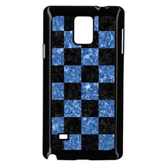 Square1 Black Marble & Blue Marble Samsung Galaxy Note 4 Case (black)