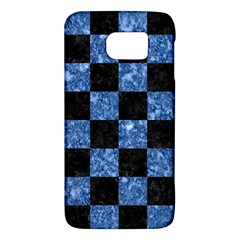 Square1 Black Marble & Blue Marble Samsung Galaxy S6 Hardshell Case