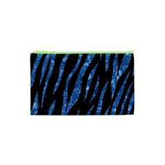 Skin3 Black Marble & Blue Marble (r) Cosmetic Bag (xs)