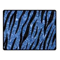 Skin3 Black Marble & Blue Marble Double Sided Fleece Blanket (small)