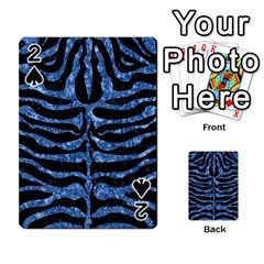 Skin2 Black Marble & Blue Marble (r) Playing Cards 54 Designs