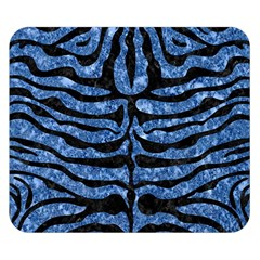 Skin2 Black Marble & Blue Marble Double Sided Flano Blanket (small)
