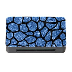 Skin1 Black Marble & Blue Marble (r) Memory Card Reader With Cf