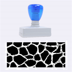 Skin1 Black Marble & Blue Marble Rubber Stamp (large)
