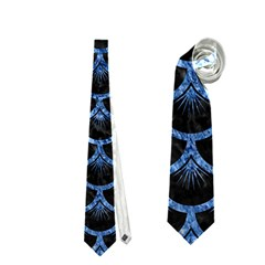 Scales3 Black Marble & Blue Marble (r) Necktie (one Side)