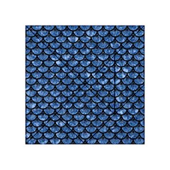 Scales3 Black Marble & Blue Marble Acrylic Tangram Puzzle (4  X 4 )