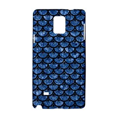 Scales3 Black Marble & Blue Marble Samsung Galaxy Note 4 Hardshell Case