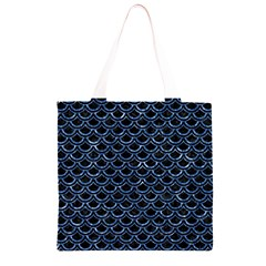 SCA2 BK-BL MARBLE (R) Grocery Light Tote Bag