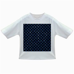 Scales1 Black Marble & Blue Marble (r) Infant/toddler T Shirt