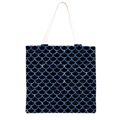 SCA1 BK-BL MARBLE (R) Grocery Light Tote Bag