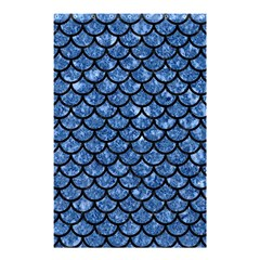 Scales1 Black Marble & Blue Marble Shower Curtain 48  X 72  (small)