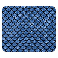 Scales1 Black Marble & Blue Marble Double Sided Flano Blanket (small)