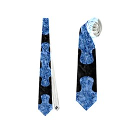 Puzzle1 Black Marble & Blue Marble Necktie (two Side)