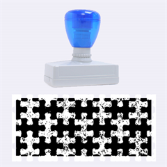 Puzzle1 Black Marble & Blue Marble Rubber Stamp (large)