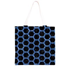 HXG2 BK-BL MARBLE (R) Grocery Light Tote Bag