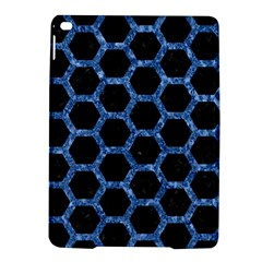 Hexagon2 Black Marble & Blue Marble (r) Apple Ipad Air 2 Hardshell Case