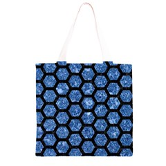 HXG2 BK-BL MARBLE Grocery Light Tote Bag