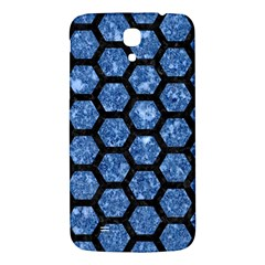 Hexagon2 Black Marble & Blue Marble Samsung Galaxy Mega I9200 Hardshell Back Case
