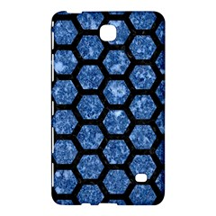 Hexagon2 Black Marble & Blue Marble Samsung Galaxy Tab 4 (8 ) Hardshell Case