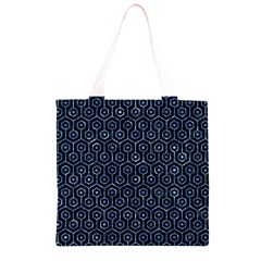 HXG1 BK-BL MARBLE (R) Grocery Light Tote Bag