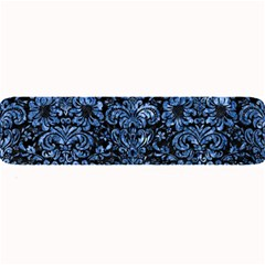 Damask2 Black Marble & Blue Marble (r) Large Bar Mat