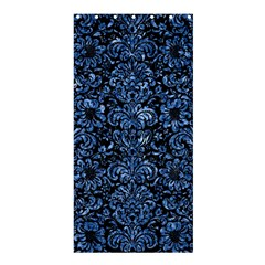 Damask2 Black Marble & Blue Marble (r) Shower Curtain 36  X 72  (stall)