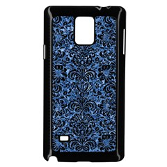 Damask2 Black Marble & Blue Marble Samsung Galaxy Note 4 Case (black)