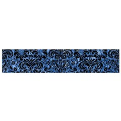 Damask2 Black Marble & Blue Marble Flano Scarf (small)