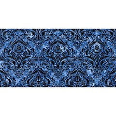 Damask1 Black Marble & Blue Marble (r) You Are Invited 3d Greeting Card (8x4)