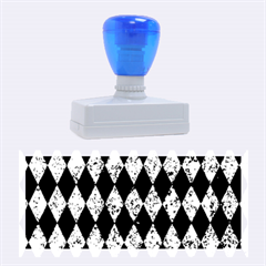 Diamond1 Black Marble & Blue Marble Rubber Stamp (large)