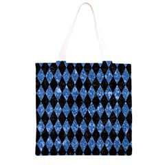 DIA1 BK-BL MARBLE Grocery Light Tote Bag