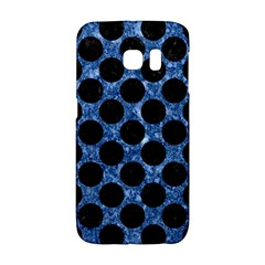 Circles2 Black Marble & Blue Marble Samsung Galaxy S6 Edge Hardshell Case