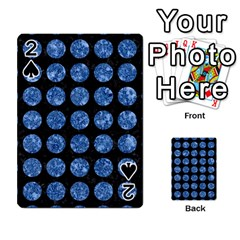 Circles1 Black Marble & Blue Marble (r) Playing Cards 54 Designs