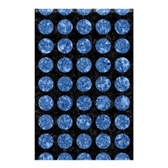 Circles1 Black Marble & Blue Marble (r) Shower Curtain 48  X 72  (small)