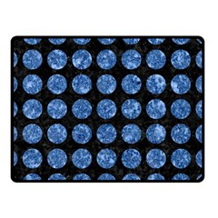 Circles1 Black Marble & Blue Marble (r) Double Sided Fleece Blanket (small)