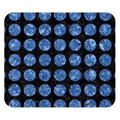 Circles1 Black Marble & Blue Marble (r) Double Sided Flano Blanket (small)
