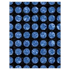 Circles1 Black Marble & Blue Marble (r) Drawstring Bag (large)