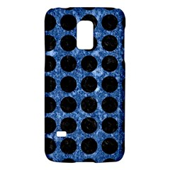 Circles1 Black Marble & Blue Marble Samsung Galaxy S5 Mini Hardshell Case