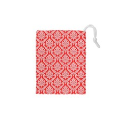 Salmon Damask Drawstring Pouches (XS)