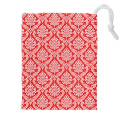 Salmon Damask Drawstring Pouches (XXL)
