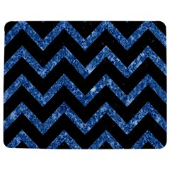 Chevron9 Black Marble & Blue Marble Jigsaw Puzzle Photo Stand (rectangular)