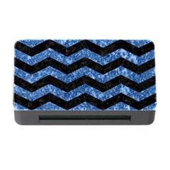 Chevron3 Black Marble & Blue Marble Memory Card Reader With Cf