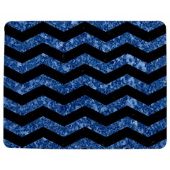 Chevron3 Black Marble & Blue Marble Jigsaw Puzzle Photo Stand (rectangular)